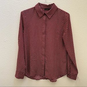 HALOGEN multi color herringbone shirt NWT